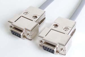 長尺RS-232Cクロスケーブル 9pinメス-9pinメス クロス結線(最長150メートル)