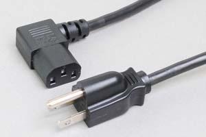 電源ケーブル(3Pプラグ/左向きL型3Pソケット)<7A-125V>