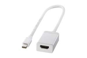【サンワサプライ】Mini DisplayPort-HDMI変換アダプタ