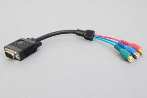 ミニD-sub15pinオス-RCAメス×3  中継・変換ケーブル