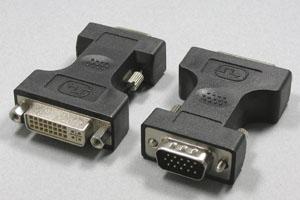 DVI 変換アダプタ DVIメス-ミニD-sub15pinオス