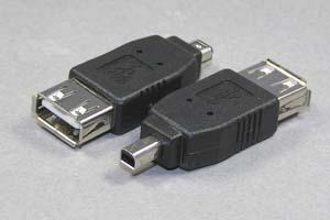 USB変換アダプタ Aメス-ミニ4pin オス 【在庫限り販売中止】
