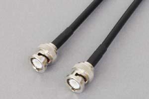 50オーム同軸ケーブル BNCオス-BNCオス (両側ストレート型端子、JIS規格3D-2V電線タイプ)