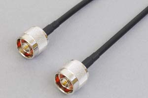 50オーム同軸ケーブル N型オス-N型オス (両側ストレート型端子、MIL規格RG-58AU電線タイプ)