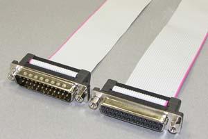 Dsubケーブル 25pin フラットケーブル(オス-メス、M2.6ロックナット)