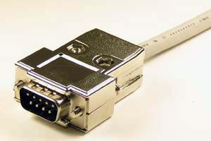 EMI対策 Dsubケーブル 9pin 丸ケーブル(片側オス、M2.6ショートネジ)