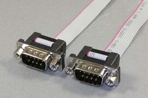 Dsubケーブル 9pin フラットケーブル(オス-オス、M2.6ロックナット)
