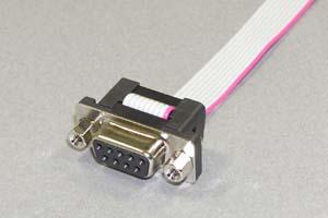 Dsubケーブル 9pin フラットケーブル(片側メス、M2.6ロックナット)