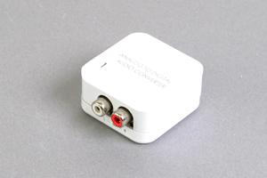 アナログ音声信号 コンバーター : アナログ音声(RCA×2) ⇒ 同軸デジタル(RCA)/光角形デジタル音声
