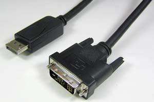 DisplayPort ⇒DVI-Dシングルリンク 変換ケーブル