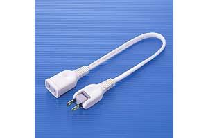 【サンワサプライ】 電源延長コード、2Pスイングプラグ、長さ0.3m、15A・125V(1500Wまで)