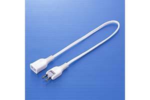 【サンワサプライ】 電源延長コード、2Pスイングプラグ、長さ0.5m、15A・125V(1500Wまで)