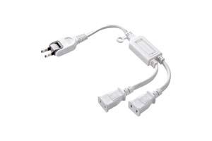 【サンワサプライ】 ACアダプタ専用電源延長コード、2分岐タイプ、2P用、長さ0.5m、15A・125V(1500Wまで)
