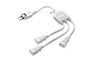 【サンワサプライ】 ACアダプタ専用電源延長コード、3分岐タイプ、2P用、長さ0.5m、15A・125V(1500Wまで)