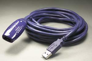 USBリピーターケーブル : 最大20m延長  (USB2.0規格対応)