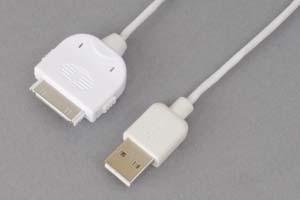 USB2.0ケーブル iPod・iPhone・iPad用 DOCKコネクタ オス-Aコネクタ オス