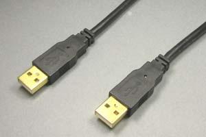USB2.0ケーブル Aコネクタ オス-Aコネクタ オス(金メッキシェル)