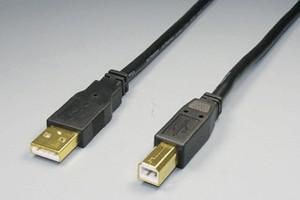 USB2.0ケーブル Aコネクタ オス-Bコネクタ オス(金メッキシェル)