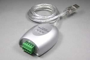 USB-RS485(シリアル)変換ケーブル(端子台タイプ、USB1.1、ケーブル長さ1m)