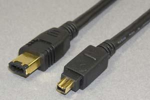 IEEE1394ケーブル 6pinオス-4pinオス(金メッキシェル) 【在庫限り販売中止】
