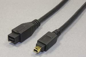IEEE1394ケーブル 9pinオス-4pinオス(金メッキシェル) 【在庫限り販売中止】