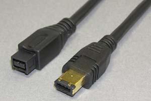 IEEE1394ケーブル 9pinオス-6pinオス(金メッキシェル) 【在庫限り販売中止】