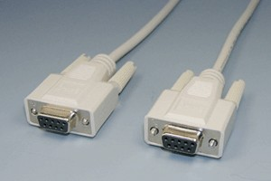 RS-232Cケーブル 9pinメス-9pinメス ストレート結線