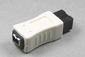 IEEE1394変換アダプタ 9ピン(オス)-4ピン(メス) 【在庫限りで販売中止】