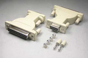 RS-232C変換アダプタ 25pinメス-9pinメス (♯4-40ネジ)