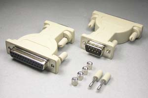 RS-232C変換アダプタ 25pinメス-9pinオス (♯4-40ネジ)
