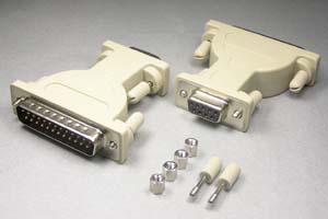 RS-232C変換アダプタ 25pinオス-9pinメス (♯4-40ネジ)