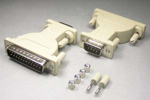 RS-232C変換アダプタ 25pinオス-9pinオス (♯4-40ネジ)