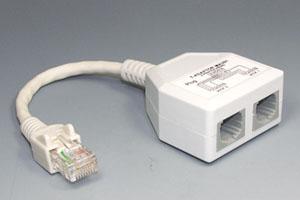 LAN省配線アダプタ CAT5用