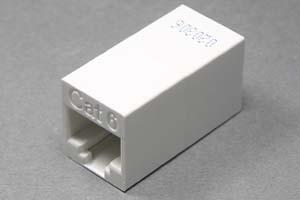 LANアダプタ CAT6 ストレート結線 筒型