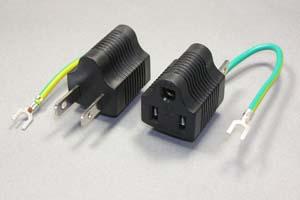 電源アダプタ、3P→2P、定格15A-125V