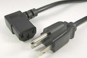 電源ケーブル(3Pプラグ/右向きL型3Pソケット)<7A-125V>
