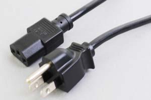 【耐トラッキング対策】 電源ケーブル(3Pプラグ耐トラッキング/3Pソケット)<7A-125V>