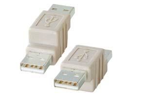 【サンワサプライ】 USB変換アダプタ Aオス-Aオス  【在庫限り販売中止】