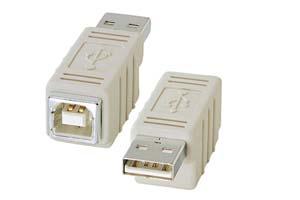 【サンワサプライ】 USB変換アダプタ Aオス-Bメス  【在庫限り販売中止】