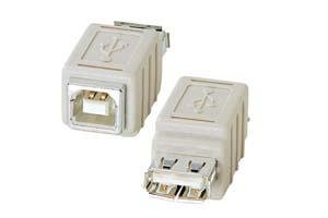 【サンワサプライ】 USB変換アダプタ Aメス-Bメス  【在庫限り販売中止】