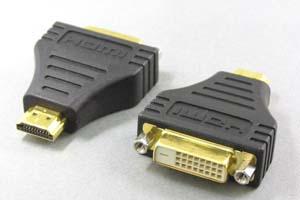 HDMIオス-DVI-Dメス(24+1:シングルリンク) 変換アダプタ