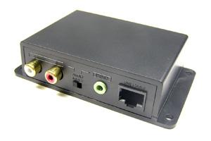 オーディオ信号(アナログ音声) エクステンダー 最大600m延長(音声信号延長器:UTPケーブル(LANケーブル)延長型) 【在庫限り販売中止】