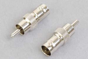 同軸コネクタ用変換アダプタ  BNCメス-RCAオス(インピーダンス75Ω)