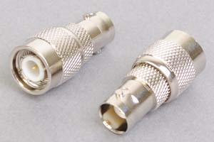 同軸コネクタ用変換アダプタ  BNCメス-TNCオス(インピーダンス50Ω)
