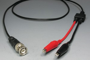 50オーム同軸ケーブル BNCオス-3Aワニ口タイプ (MIL規格RG-174電線タイプ、JIS規格1.5D-2V相当)