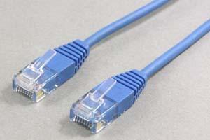 極細・超柔軟 カテゴリ 5E LANケーブル UTP ストレート結線(より線、ブルー)