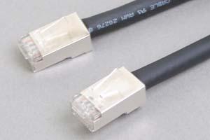 カテゴリ 5E 耐屈曲 ロボットLANケーブル STP(FTP) ストレート結線(耐屈曲性・耐摺動性・耐捻回性、シールド、より線、黒)