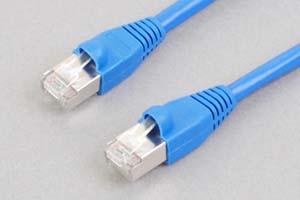 カテゴリ 5E LANケーブル STP(FTP) ストレート結線(シールド、より線、ブルー)