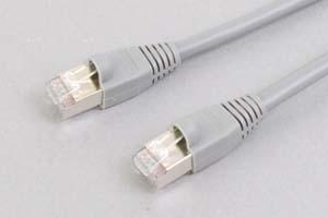 カテゴリ 5E LANケーブル STP(FTP) ストレート結線(シールド、より線、グレー)