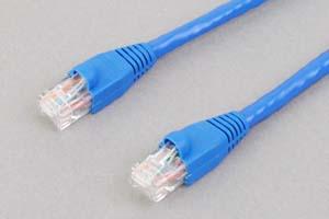 カテゴリ 6 LANケーブル UTP ストレート結線(より線、ブルー)